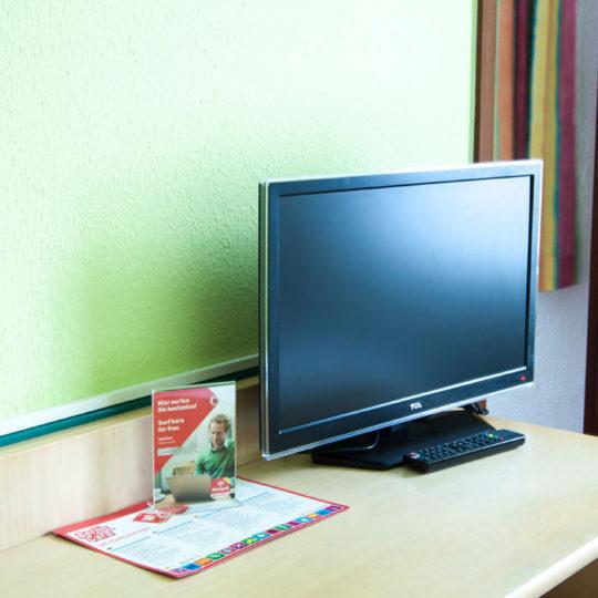Fernseher mit Kabel TV 540x540 - Single room