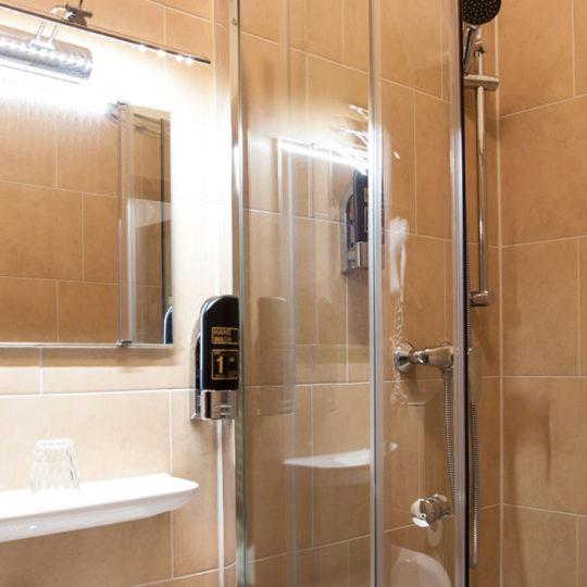 WC mit Dusche 540x540 - Single room